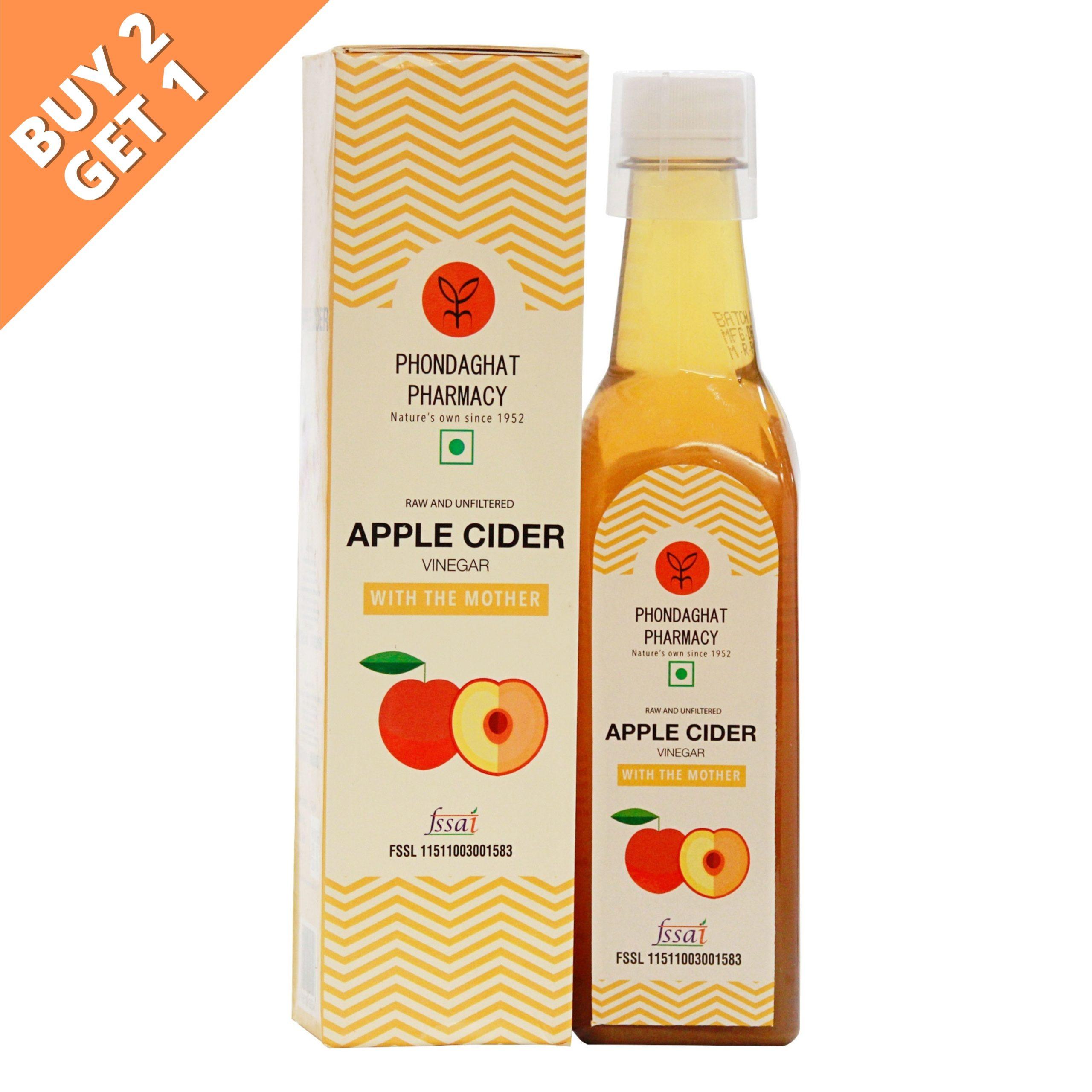 Organic Apple Cider Vinegar With Mother Buy 2 Get 1 Free