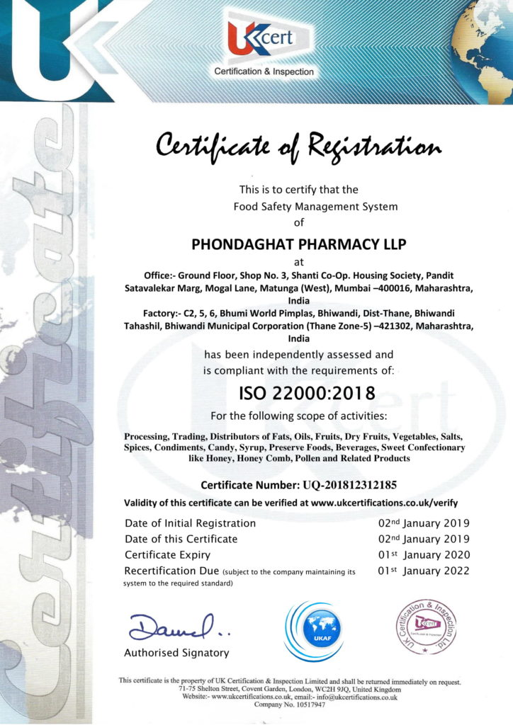Phondaghat Pharmacy Certificate 22000
